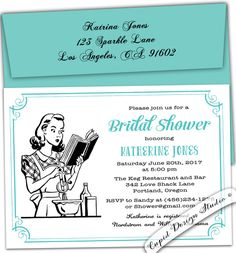 A personal favorite from my Etsy shop https://www.etsy.com/listing/113480811/retro-housewife-bridal-shower-invitation