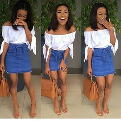 Perfect Summer Look - Latest Casual Fashion Arrivals. The Best of casual fashion in - Fashion New Trends Spring Outfits, Trendy Outfits, Cute Outfits, Fashion Outfits, Womens Fashion, Vetements Shoes, Looks Black, Black Girl Fashion, Fashion Top