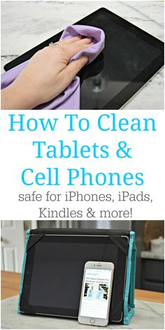 How To Clean Tablet Screens and Cell Phones Too - Great for iPads, iPhones, cellular phones, Kindles, and any other electronic devices. via @Mom4Real
