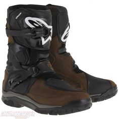 ALPINESTARS BELIZE DRYSTAR BROWN BLACK OILED LEATHER BOOTS - Chromeburner