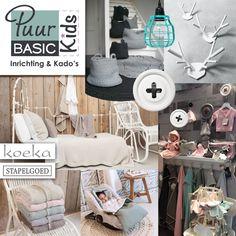 Puur Basic Kids (@Puurbasic) met woonaccessoires, kinderkamerinrichting en baby-artikelen van Koeka, HK Living, Nacotrade en Stapelgoed.  Handgehaakte kleden en manden van Naco, leuke hanglampjes en wandhaken van HK Living, en mooie items van Koeka en Koeka Home zoals plaids en kussens. We love it!