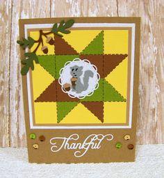 Ann Greenspan's Crafts: Adorable Squirrel Thankful card