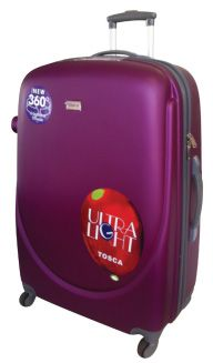 Tosca Orbit ABS Trolley Cases Super Lightweight, ABS construction, Fully Lined, 4 wheel Spinner, Push Button Handle, Zip Locking Sliders Buy securely online at www.luggageladies... Orders delivered in 3-4 working days. Available in Black, Purple, or Emerald Trolley Case, Sliders, Lady, Emerald, Handle, Cases, Construction, Button, Purple