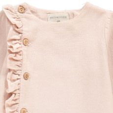 Yellowpelota Ruffed Blouse With Buttons-product