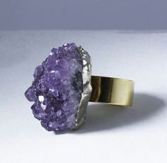 Amethyst stunner ring.  Free shipping at www.conceptfortyseven.com