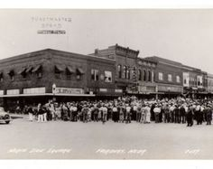 Vintage Fairbury Nebraska RPPC, North Side Square, Downtown, IGA Store, Toastmaster Bread, 1930s Real Photo Postcard, LL Cook, Unused