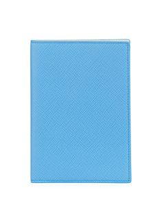 Panama Leather Passport Cover, Blue Nile
