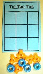 Tic-Tac-Toe - Camp Activity for rainy day or quiet time