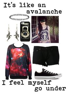 """""""Avalanche // Bring Me The Horizon"""" by im-punk-not-dead ❤ liked on Polyvore featuring rag & bone/JEAN, Converse, Casetify and Dorothy Perkins"""