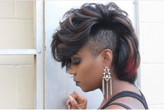 The Best Short Haircut Styles For Women – HerHairdos Haircut Styles For Women, Short Haircut Styles, Best Short Haircuts, Mohawk Styles, Pompadour Hairstyle, My Hairstyle, Pretty Hairstyles, Black Hairstyles, Shaved Side Hairstyles