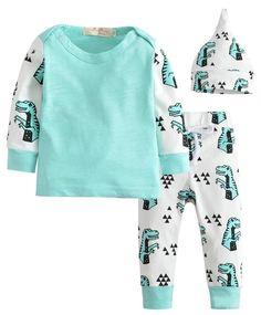 T-Rex Baby Boy Outfit Set