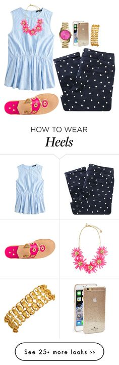 """""""Thanks for 1k followers! Ilysm!"""" by thepinkcatapillar on Polyvore featuring Sessùn, J.Crew, Jack Rogers, MICHAEL Michael Kors and Kate Spade"""