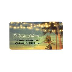 sunset beach wedding address labelsKeep the hand cramps at bay with custom address labels! Our Signature Address Labels are perfect for mailing labeling and gift tagging. Add your photos images and text to add personal touch to your outgoing sendables. Sunset Beach Weddings, Sunset Wedding, Light Wedding, Rustic Wedding, Wedding Address Labels, Custom Address Labels, Stickers Design, Beach Wedding Favors, Wedding Ideas