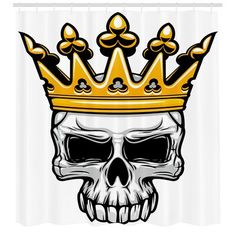 Buy King Skull in Royal Gold Crown by VectorTradition on GraphicRiver. Crowned king skull symbol of spooky human cranium with royal gold crown. For tattoo, t-shirt print or Halloween desig. Halloween Designs, Halloween Themes, Skull With Crown, Gold Crown, Amoled Wallpapers, Wing Tattoo Designs, Skull Artwork, Skull Wallpaper, Kings Crown