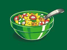 Breakfast of Plumbers, Patrickspens, WOOT (That's Mario) Mundo Super Mario, Super Mario Bros, Pac Man, Geeks, Luigi, League Of Legends, Otaku, Web Design, Gadgets