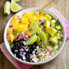 .@livegreenhealthy | Mango, Avocado Black Bean Salad from ahouseinthehills.com.  For recipes visit...