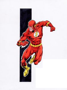 The Flash by Ron Frenz Dc Comics Characters, Dc Comics Art, Marvel Comics, Comic Book Artists, Comic Books Art, Comic Art, Flash Art, The Flash, Flash Tv Series