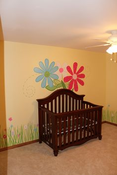 Simple Flowers Nursery Mural By Ml Murals Michigan