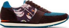 Paul Smith Jeans Purple & Blue Suede Paneled Moogg Sneakers