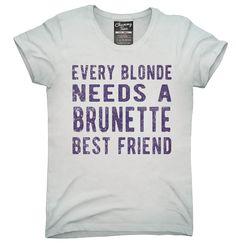 Every Blonde Needs A Brunette Best Friend Shirt, Hoodies, Tanktops
