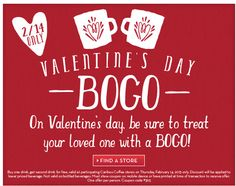caribou coffee valentines day coupon