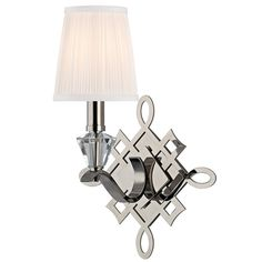 Fowler 8181-PN with intricate metal scrollwork that mimics a knot #hudsonvalleylighting #largerthanlight