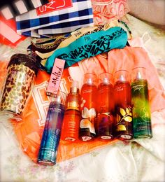 A little bit of victoria's secret, bath and body works, and sephora...