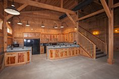 Great Plains Barn Event Center Kitchen barn wedding How to Construct a Simple Garage Pole Barn style Pole Barn House Plans, Pole Barn Homes, Barn Plans, Metal Building Homes, Metal Homes, Building A House, Pole Barn Designs, Barn Kitchen, Kitchen Ideas