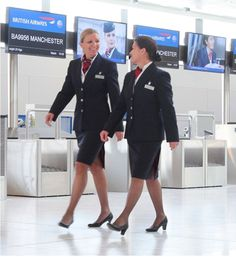 Only one of these photos shows our cabin crew in the correct etihad uniform can you spot the differences hint we can count 6 Hot Air Hostess, Sas Airlines, Airline Uniforms, British Airways, Cabin Crew, Nylon Stockings, Flight Attendant, Skirt Suit, Work Attire