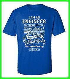 I Am An Engineer - Adult Shirt 5xl Royal - Careers professions shirts (*Amazon Partner-Link)