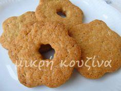 μικρή κουζίνα: Τα μπισκότα της μαμάς-η νηστίσιμη εκδοχή Bagel, Bread, Sweet, Blog, Cookies, Biscuits, Breads, Baking, Cookie Recipes