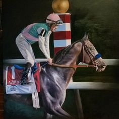 LETS GO ARROGATE & Mike Smith!! @arrogate_ @breederscup @mikeesmithjockey #breederscup #arrogate #oilpainting #equinepainting #equineart #contemporaryrealism #goodluck