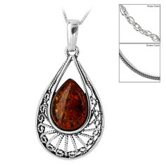 Empress+Amber+&+Sterling+Necklace+at+The+Rainforest+Site