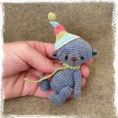 Looking for crocheting project inspiration? Check out Miniature Crochet Bear 'Sully' by member TheTinyToyBox.