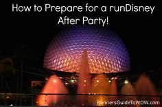 Tips to help you prepare for the runDisney after party after the Expedition Everest Challenge, Tower of Terror 10-Miler and Wine & Dine Half Marathon events!