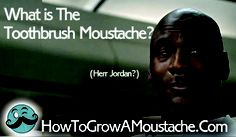 What is The Toothbrush Moustache?