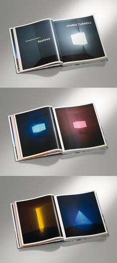 Check out the early works of James Turrell /// Zumtobel Group Annual Report 2014-2015 by James Turrell