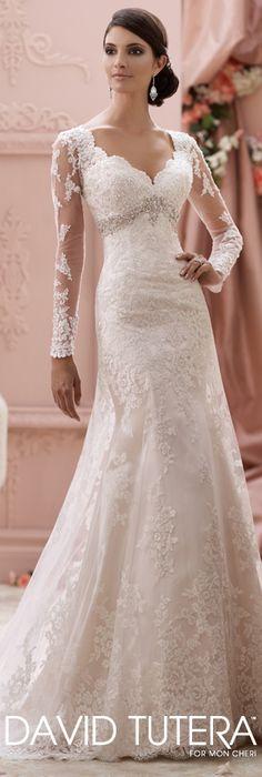 The David Tutera for Mon Cheri Spring 2015 Wedding Dress Collection - Style No. 115240 Finley davidtuteraformoncheri.com #weddingdresses