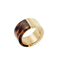 Gold-Tone Color-Block Ring  by Michael Kors