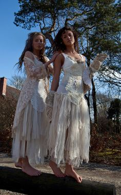 RAW RAGS one of a kind wedding dress pixie  beach by RAWRAGSbyPK