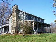 the log cabin house