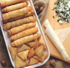 Turkish borek ( roll) with feta cheese
