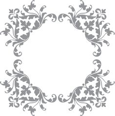 Glass etching stencil of Floral and Vine Corner Design. In category: Birds & Flowers, Flowers, Frames, Ivy, Vines & Natural