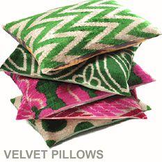 Silk Velvet IKAT cushions | Found Object