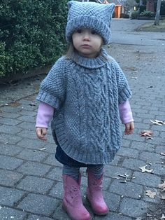 Ravelry: Cable Fantasy Poncho pattern by Tatsiana Matsiuk Baby Sweater Patterns, Poncho Knitting Patterns, Knitted Poncho, Knitted Dolls, Children's Poncho, Toddler Poncho, Girls Poncho, Knitting For Kids, Crochet For Kids