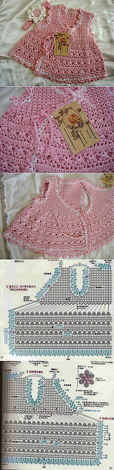 Красивая кофточка крючком для девочки. Схемы. [] # # #Wrap #Dress, # #Wraps, # #Crochet, # #Tissue