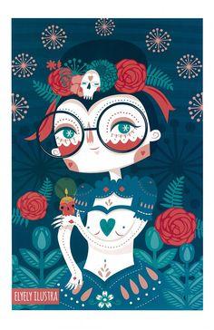 """""""Catrina"""" #Print autorizado de @ElyElyIlustra ya disponible en línea   #Ilustración #Diseño #ArtWork #Design #Mexico #MexicanDesign #DF #CDMX #Love #Image #DiseñoMexicano"""