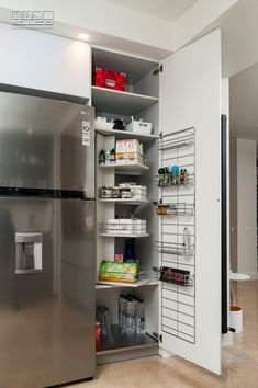 Proiect bucatarie Corbeanca | Kuxa Studio, expert in mobila de bucatarie - 5215 French Door Refrigerator, French Doors, Kitchen Appliances, Studio, Home, Diy Kitchen Appliances, Home Appliances, Ad Home, Studios