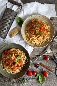 Spaghetti bolognaise végé au tofu parfumé