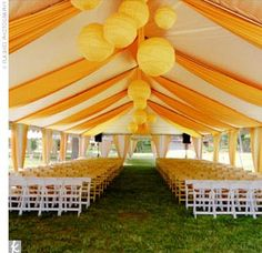 Such a happy wedding tent!